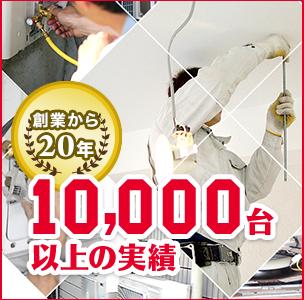 創業から20年 10,000台以上の実績